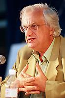 File Photo, Montreal (Qc) CANADA<br /> Bertrand Tavernier Press Conference  during the 1999 World Film Festival.<br /> <br /> ChloÈe Sainte-Marie  Gilles Carle  aet Serge Losique  ‡ la PremiËre de PUDDING CHOMEUR lors du Festival des Films du Monde 1999<br /> Photo : (c) 1999. Pierre Rousel