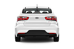Straight rear view of 2017 KIA Rio LX-AT 4 Door Sedan Rear View  stock images