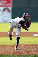 July 4th 2008:  Pitcher Tyree Hayes of the Hudson Valley Renegades, Class-A affiliate of the Tampa Bay Rays, during a game at Dwyer Stadium in Batavia, NY.  Photo by:  Mike Janes/Four Seam Images