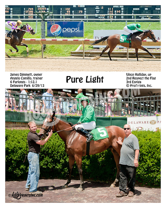 Pure Light winning at Delaware Park on 6/29/13