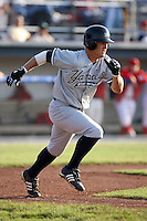 July 9th 2007:  Justin Snyder of the Staten Island Yankees, Class-A affiliate of the New York Yankees, at Dwyer Stadium in Batavia, NY.  Photo by:  Mike Janes/Four Seam Images