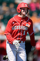 Nebraska Cornhusker Boomer Collins against Texas on Sunday March 21st, 2100 at UFCU Dish-Falk Field in Austin, Texas.  (Photo by Andrew Woolley / Four Seam Images)