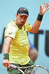 Steve Johnson during Madrid Open Tennis 2015 match.May, 4, 2015.(ALTERPHOTOS/Acero)