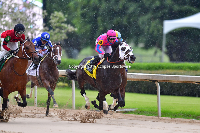 April 11, 2020:  Pioneer Spirit (4) with jockey David Cohen aboard during the Oaklawn Mile Stakes at Oaklawn Racing Casino Resort in Hot Springs, Arkansas on April 11, 2020. Ted McClenning/Eclipse Sportswire/CSM Oaklawn Heritage race at Oaklawn Racing Casino Resort  on April 11, 2020 in Hot Springs, Arkansas. (Photo by Ted McClenning/Eclipse Sportswire/Cal Sport Media)