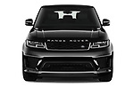 Car photography straight front view of a 2020 Land Rover Range-Rover-Sport HSE-PHEV 5 Door SUV Front View