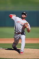 Peoria Javelinas pitcher Barrett Astin (35), of the Cincinnati Reds organization, during a game against the Surprise Saguaros on October 20, 2016 at Surprise Stadium in Surprise, Arizona.  Peoria defeated Surprise 6-4.  (Mike Janes/Four Seam Images)
