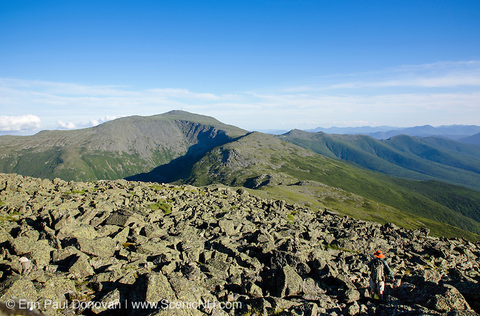 Mount Washington from the summit of Mount Jefferson in the White Mountains, New Hampshire USA  during the summer months.