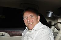 August 28, 2012 - Laval (Quebec) CANADA -  CAQ (Coalition Avenir Quebec)  campaign - CAQ Leader Francois Legault leave after an event in Laval.<br /> <br /> FRENCH CAPTION BELOW :<br /> <br /> CAQ en campagne a Laval le 28 aout 2012 - le chef de la CAQ  (Coalition Avenir Quebec)  Francois Legault quittant apres un evenement a Laval