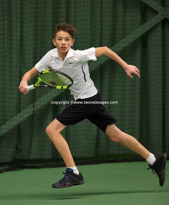 Rotterdam, The Netherlands, March 19, 2016,  TV Victoria, NOJK 14/18 years, Jesse de Jager (NED)<br /> Photo: Tennisimages/Henk Koster