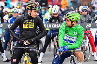 SAINT-GAUDENS, FRANCE - JULY 13 VAN AERT Wout (BEL) of JUMBO-VISMA, CAVENDISH Mark (GBR) of DECEUNINCK - QUICK-STEP during stage 16 of the 108th edition of the 2021 Tour de France cycling race, a stage of 169 kms between El Pas de la Casa and Saint-Gaudens.