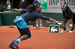 May 24, 2016:  Serena Williams (USA) defeated Magdalena Rybarikova (SVK) 6-2, 6-0, at  Roland Garros being played at Stade Roland Garros in Paris, .  ©Leslie Billman/Tennisclix/CSM