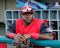 Michael Burgess  ---  At the annual California League-Carolina League all-star game at the Diamond in Lake Elsinore, CA - 06/23/2009. The game was won by the California League, 2-1, on a walk-off homerun by Lancaster's Jon Gaston..Photo by:  Bill Mitchell/Four Seam Images