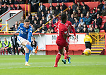 Aberdeen v St Johnstone…14.09.19   Pittodrie   SPFL<br />Michael O'Halloran scores for saints<br />Picture by Graeme Hart.<br />Copyright Perthshire Picture Agency<br />Tel: 01738 623350  Mobile: 07990 594431