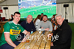 Kerry fans Eoin Gleeson, Tadhg O Dohertaigh Martin Neville and Michael O Dohertaigh watching the Kerry game in the Gleneagle Hotel on Sunday