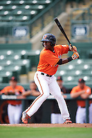 Baltimore Orioles center fielder Cedric Mullins (19) during an Instructional League game against the Tampa Bay Rays on September 19, 2016 at Ed Smith Stadium in Sarasota, Florida.  (Mike Janes/Four Seam Images)