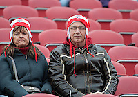 22 October 2011: Dedicated Toronto FC fans wait patiently for the start of a game between the New England Revolution and Toronto FC at BMO Field in Toronto..The game ended in a 2-2 draw.