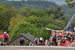 Marc Hirschi (SUI) Team Sunweb attacks on the final climb up the Mur de Huy during La Fleche Wallonne 2020, running 202km from Herve to Mur de Huy, Belgium. 30th September 2020.<br /> Picture: ASO/Gautier Demouveaux | Cyclefile<br /> All photos usage must carry mandatory copyright credit (© Cyclefile | ASO/Gautier Demouveaux)