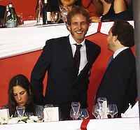 la Princesse Caroline de Hanovre, son fils AndrÈa Casiraghi, son Èpouse Tatiana durant le Longines proAm Cup Monaco dans le cadre du Jumping International de Monte Carlo 2016 le 24 juin 2016.