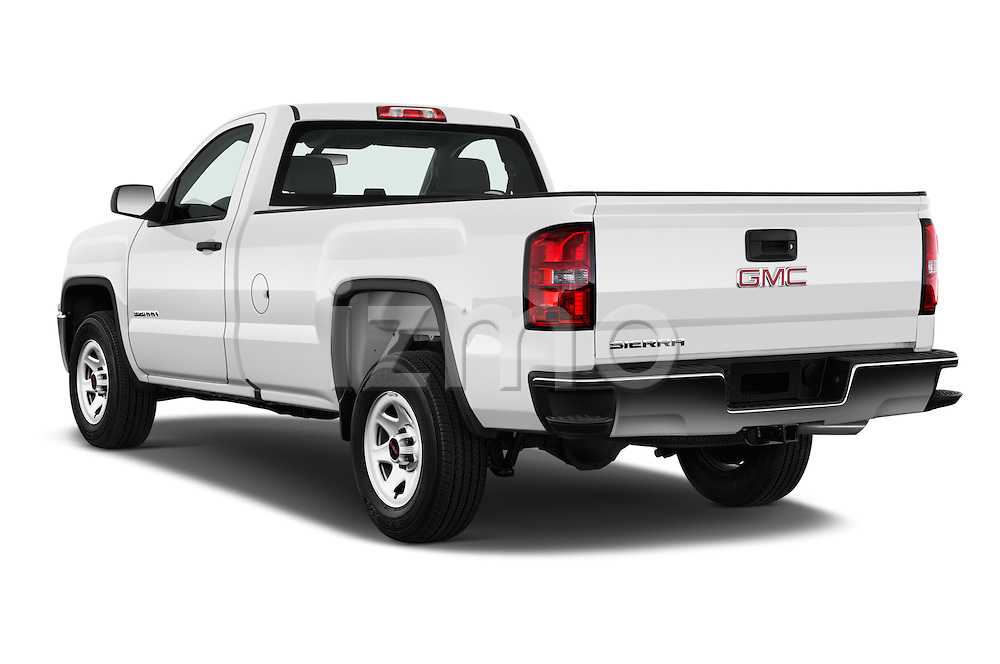 Car pictures of rear three quarter view of 2016 GMC Sierra-1500 2WD-Regular-Cab-Long-Box 2 Door Pick-up Angular Rear