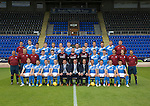 St Johnstone FC photocall Season 2016-17<br />Back row from left, Ewan Peacock (Chief Scout), Ally Gilchrist, Graham Cummins, Blair Alston, Murray Davidson, Steven Anderson, Brian Easton, Tam Scobbie, Joe Shaughnessy, Brad McKay, Keith Watson, Liam Gordon and George Browning (Academy GK Coach)<br />Middle row, from left, Alistair Stevenson (Academy Manager), Manny Fowler (Kit Manager), Paul Mathers (GK Coach), Craig Thomson, George Hunter, Mark Hurst, Alan Mannus, Zander Clark, David Wotherspoon, Eoghan McCawl, Scott Williams (Physio), Mel Stewart (Asst Physio) and Alex Headrick (Sports Scientist)<br />Front row from left, Liam Craig, Paul Paton, Steven MacLean, Dave Mackay, Callum Davidson (Asst Manager), Tommy Wright (Manager), Alec Cleland (1st Team Coach), Chris Millar, Danny Swanson, Chris Kane and Michael Coulson.<br />Picture by Graeme Hart.<br />Copyright Perthshire Picture Agency<br />Tel: 01738 623350  Mobile: 07990 594431