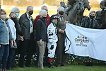 March 6, 2021: The winners circle after the running of the Honeybee Stakes (G3) at Oaklawn Racing Casino Resort in Hot Springs, Arkansas on March 6, 2021. Justin Manning/Eclipse Sportswire/CSM