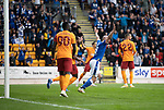 St Johnstone v Galatasaray…12.08.21  McDiarmid Park Europa League Qualifier<br />Chris Kane celebrates afte the scores are levelled at 1-1<br />Picture by Graeme Hart.<br />Copyright Perthshire Picture Agency<br />Tel: 01738 623350  Mobile: 07990 594431