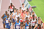 Wales' Adam Bitchell, centre left, and Wales' Dewi Griffiths, centre right, run in the 10,000m final<br /> <br /> Photographer Chris Vaughan/Sportingwales<br /> <br /> 20th Commonwealth Games - Day 9 - Friday 1st August 2014 - Athletics - Hampden Park - Glasgow - UK