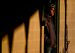 LOUISVILLE, KY - APRIL 30: A exercise rider waits for his next ride during morning workouts at Churchill Downs on April 30, 2018 in Louisville, Kentucky. (Photo by Scott Serio/Eclipse Sportswire/Getty Images)