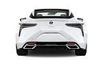 Straight rear view of 2018 Lexus LC 500 4 Door Sedan stock images