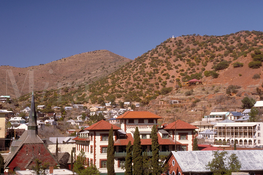 Bisbee, AZ (pop. 6,300) in the foothills of the Mule Mountains was founded after the discovery of the Copper Queen Lode during the 1880s mining rush. By 1900, it was the largest cosmopolitan center between St. Louis and San Francisco. By the 1970s, most o