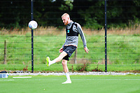 Oli McBurnie of Swansea City in action during the Swansea City Training Session at The Fairwood Training Ground, Wales, UK. Tuesday 11th September 2018