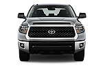 Car photography straight front view of a 2020 Toyota Tundra SR5 5.7L Crew Max 4WD Short Bed 4 Door Pick Up
