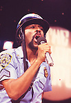"""Village People 1979 Ray Simpson on """"Midnight Special""""..© Chris Walter.."""