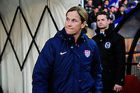 Lorient, France. - Sunday, February 8, 2015: USWNT Jill Ellis. France defeated the USWNT 2-0 during an international friendly at the Stade du Moustoir.