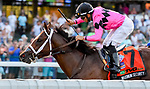 July 20, 2019 : Maximum Security #7, ridden by Luis Saez, wins the Haskell Invitational on Haskell Invitational Day at Monmouth Park Race Course in Oceanport, New Jersey.  Scott Serio/Eclipse Sportswire/CSM