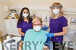 The staff of Susan Crean Dental Practice on Saturday. L to r: Tereza Lakatosova, Daniel Hyla and Maria Buckley