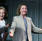 "Elaine May and Joan Allen during the Opening Night Curtain Call bows for ""The Waverly Gallery"" at the Golden Theatre on October 25, 2018 in New York City."