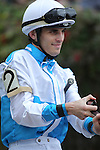 HOT SPRINGS, AR - MARCH 12: Jockey Chris Landeros aboard Dorodansa (2) before the running of the Honeybee Stakes at Oaklawn Park on March 12, 2016 in Hot Springs, Arkansas. (Photo by Justin Manning)