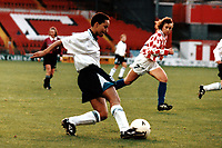 Hope Powell of England during England Women vs Croatia Women, European Championships Qualifier Football at The Valley, Charlton Athletic FC on 19th November 1995
