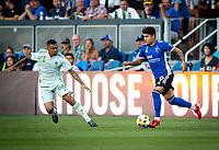 SAN JOSE, CA - SEPTEMBER 4: Javier Eduardo Lopez during a game between Colorado Rapids and San Jose Earthquakes at PayPal Park on September 4, 2021 in San Jose, California.