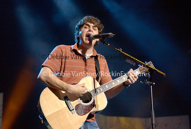 John Mayer performs live to support his cd 'Heavier Things' that released September 2003.The performance was at The Verizon Wireless Ampitheatre in Irvine,California on July 17,2004.(Pictured:John Mayer). Copyright 2004 by RockinExposures