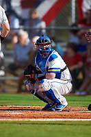 South Dakota State Jackrabbits catcher Ryan McDonald (8) during a game against the Northeastern Huskies on February 23, 2019 at North Charlotte Regional Park in Port Charlotte, Florida.  Northeastern defeated South Dakota State 12-9.  (Mike Janes/Four Seam Images)