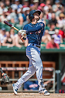 31 May 2018: New Hampshire Fisher Cats infielder Cavan Biggio in action against the Portland Sea Dogs at Northeast Delta Dental Stadium in Manchester, NH. The Sea Dogs defeated the Fisher Cats 12-9 in extra innings. Mandatory Credit: Ed Wolfstein Photo *** RAW (NEF) Image File Available ***
