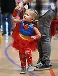 Cora Hardiman, 2, trick-or-treats at the Carson City Boo-nanza at the Community Center on Wednesday, Oct. 25, 2017. Co-hosted by Carson City Parks and Recreation, the Carson City Library and the Carson City Aquatics Facility hundreds of families participate in the event which includes trick-or-treating, a haunted house, games, crafts, a dive-in movie and more.<br /> Photo by Cathleen Allison/Nevada Momentum