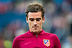 Antoine Griezmann of Atletico de Madrid in training prior to the La Liga match between Atletico de Madrid and Granada CF at the Vicente Calderon Stadium on 15 October 2016 in Madrid, Spain. Photo by Diego Gonzalez Souto / Power Sport Images