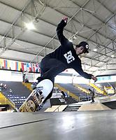 BOGOTA - COLOMBIA - 13 - 08 - 2017: Nicolas Dorado, Skater de Colombia, durante competencia en el Primer Campeonato Panamericano de Skateboarding, que se realiza en el Palacio de los Deportes en la Ciudad de Bogota. / Nicolas Dorado, Skater from Colombia, during a competitions in the First Pan American Championship of Skateboarding, that takes place in the Palace of Sports in the City of Bogota. Photo: VizzorImage / Luis Ramirez / Staff.