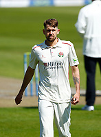 27th May 2021; Emirates Old Trafford, Manchester, Lancashire, England; County Championship Cricket, Lancashire versus Yorkshire, Day 1; Tom Bailey of Lancashire takes bowling position