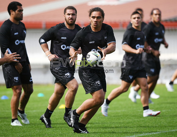 Isaiah Papali'i.<br /> Kiwis Rugby League training at Mt Smart Stadium ahead of the upcoming test match against the Australian Kangaroos this weekend. Auckland, New Zealand. Monday 8 October 2018. © Copyright photo: Andrew Cornaga / www.photosport.nz