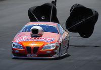 Jul. 24, 2011; Morrison, CO, USA: NHRA pro stock driver Jason Line during the Mile High Nationals at Bandimere Speedway. Mandatory Credit: Mark J. Rebilas-