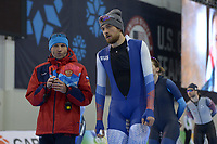 SPEEDSKATING: 12-02-2020, Utah Olympic Oval, ISU World Single Distances Speed Skating Championship, Koste Poltavets (coach RUS), Denis Yuskov (RUS), ©Martin de Jong